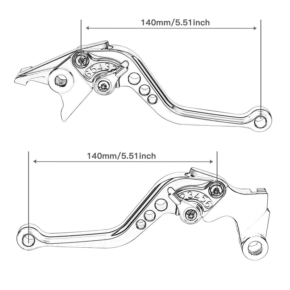 CNC Short Brake Clutch Levers for Yamaha YZF-R1 2002-2003