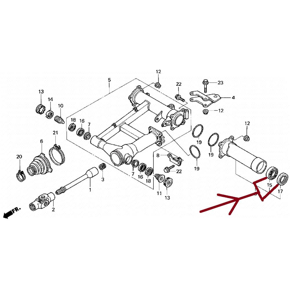 Left Rear Wheel Hub Bearing & Seal Kit For Honda Rancher