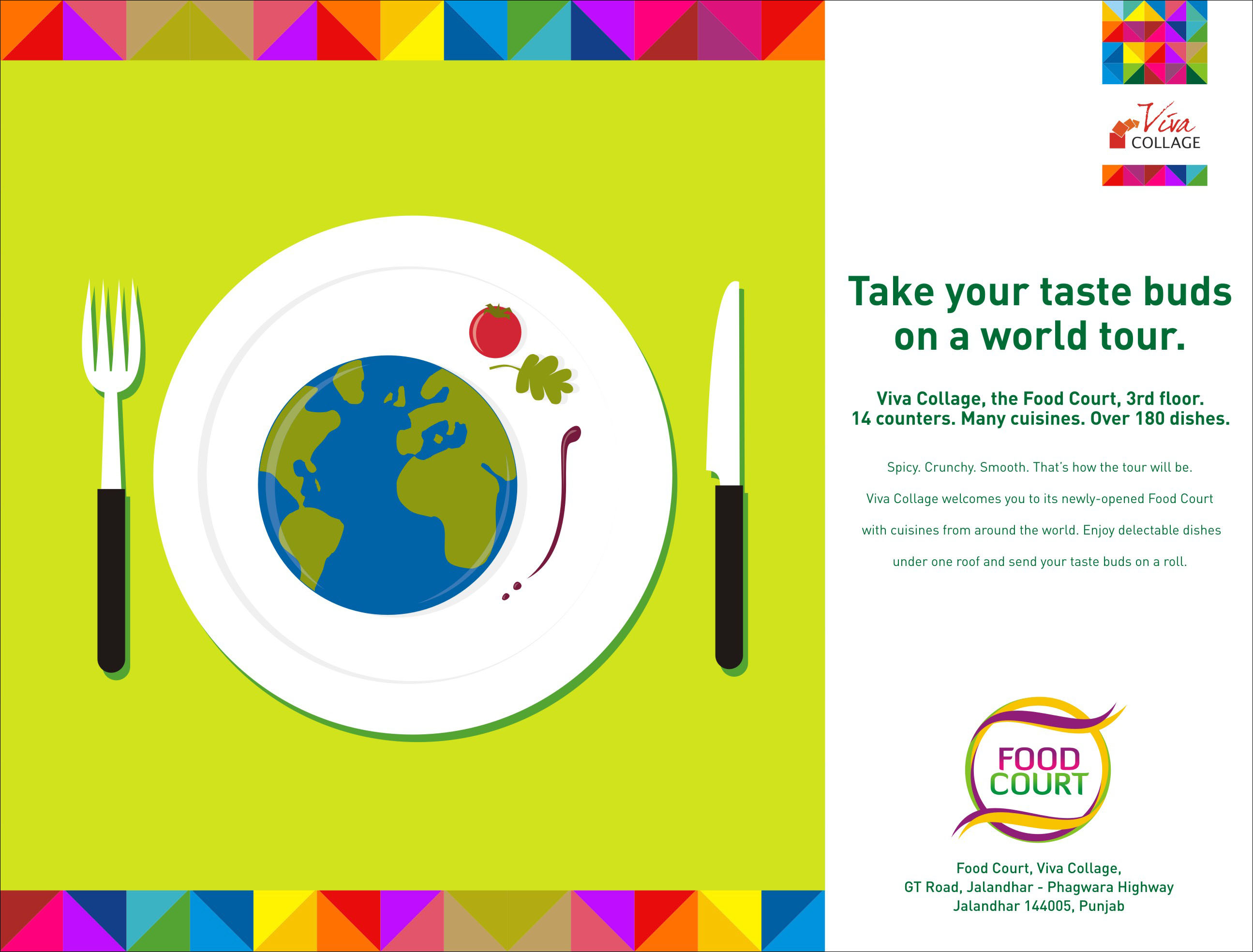 Viva Collage Food Court Ad 1