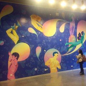 Artista venezolano Daniel Arzola exhibe mural en Montevideo