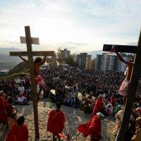 Viacrucis viviente: la pasión de Cristo en Petare cumplió 20 años