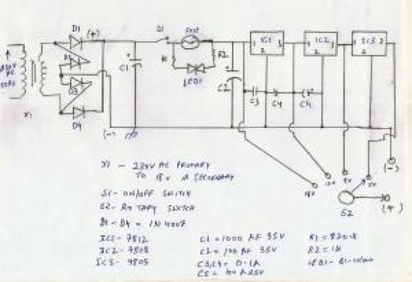 Regulated DC Power Supply Circuit - Digital Lab on