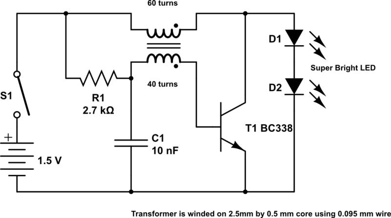 5v One Battery Led Light Flasher Circuit Diagram