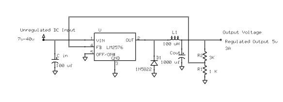 LM2576-Adjustable Buck regulator 1