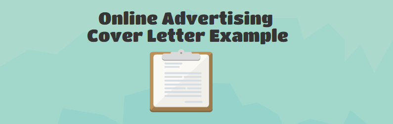 online advertising cover letter example