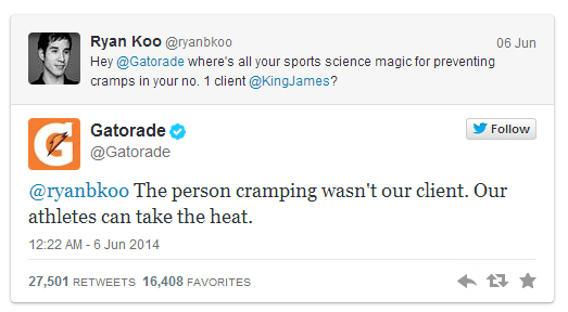 Gatorade Gives An Apology To Lebron James On Twitter Digitaladblog