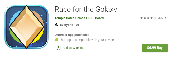 race for the galaxy app