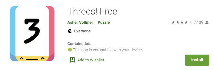 Threes! free app