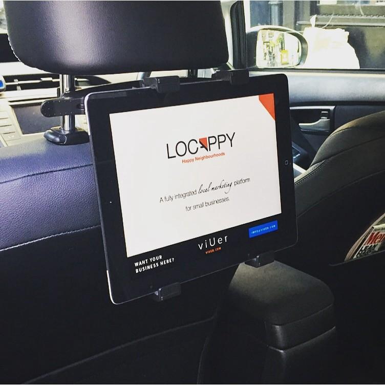 car seat headrest mount holder adjustable for tablet cell phone digital advertising media. Black Bedroom Furniture Sets. Home Design Ideas