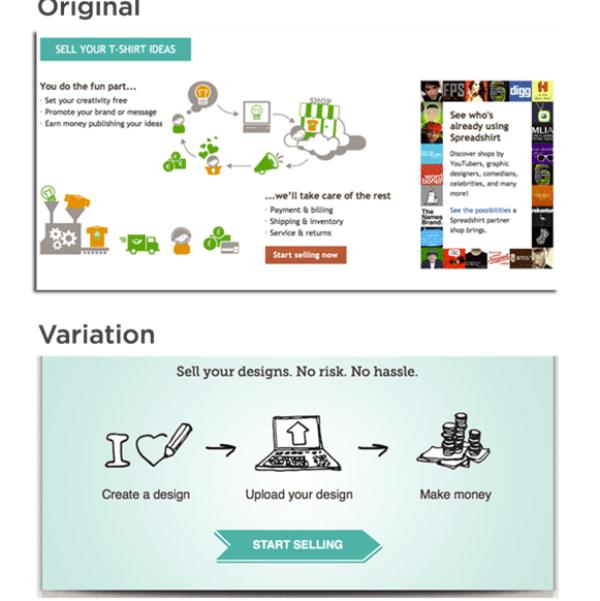 spreadshirt-website- decluttering-example