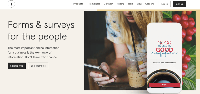 typeform-website-for-customer-surveys