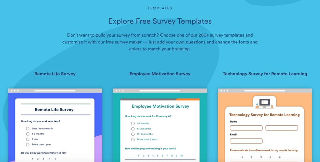 jotform survey maker