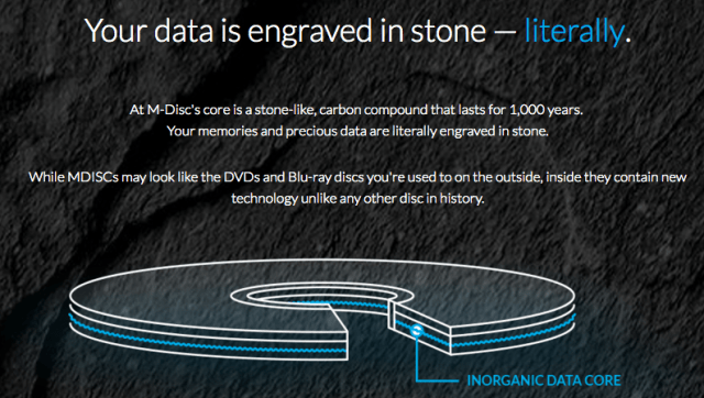 M-Disc DVD your data engraved in stone Regina