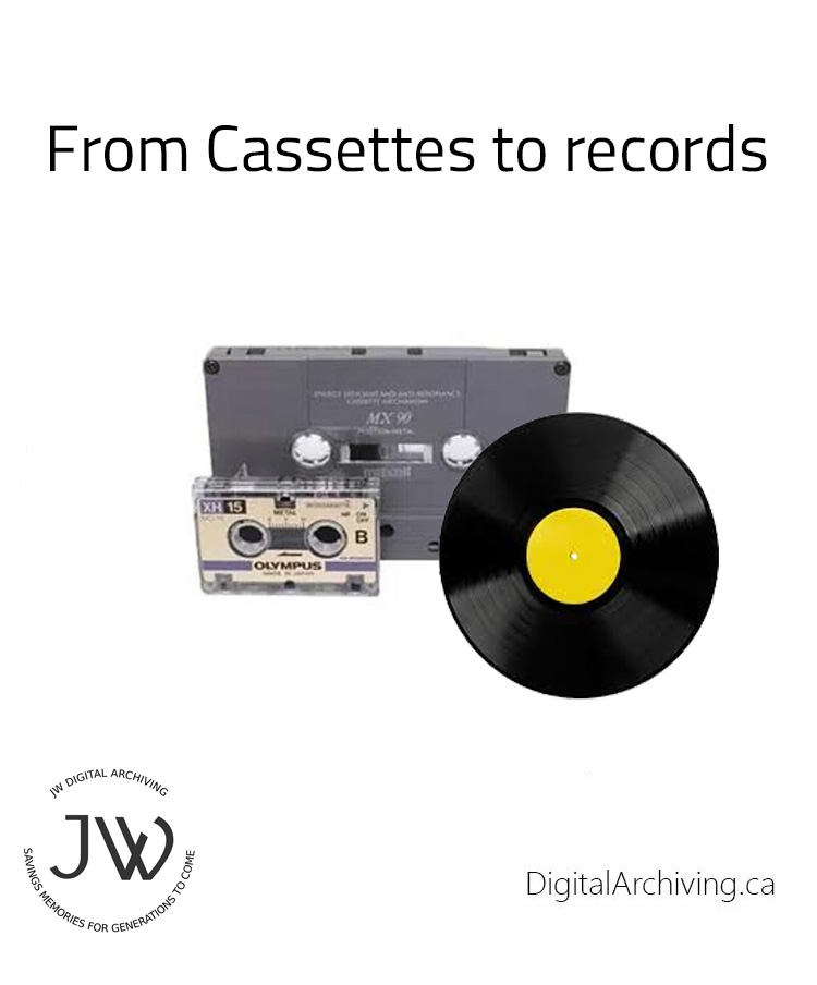 Cassettes to records