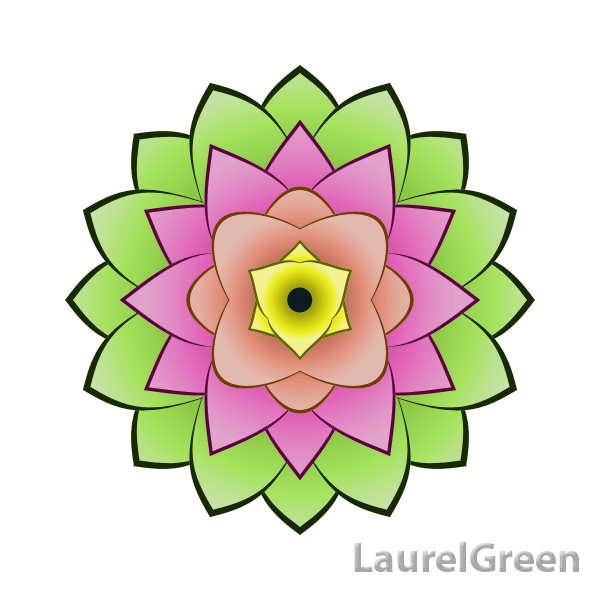 a vector picture of a lotus flower