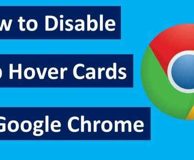 how to diable google chrome tab hover card