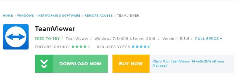 Aplikasi TeamViewer