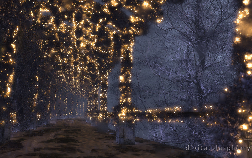 The Shaded Path (Winter/Night) (2013)