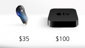 ChromeCast vs Apple TV.