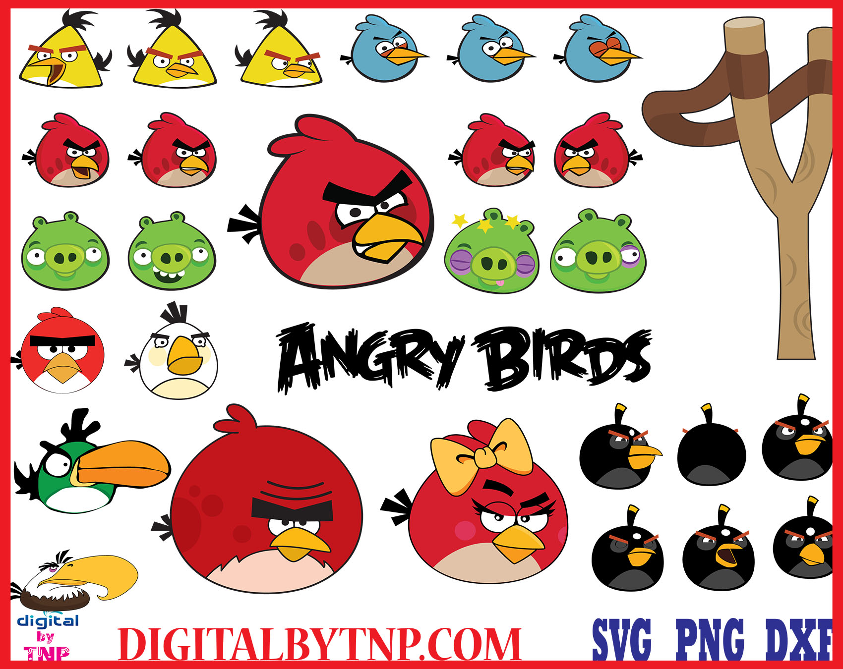 Angry Birds Clipart Svg Eps Cricut Cutting File