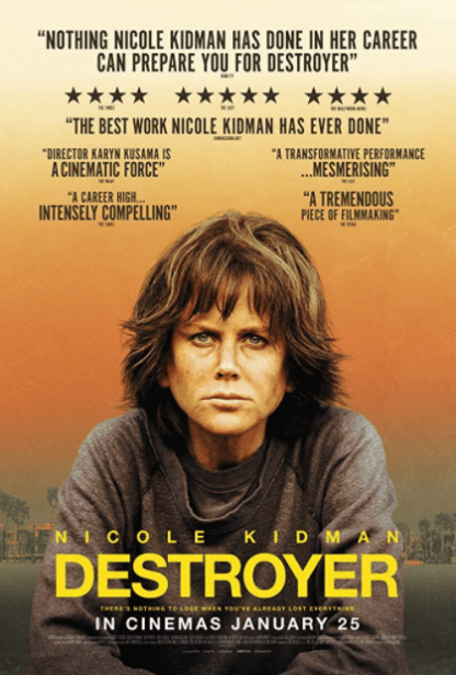 DESTROYER HD iTunes DIGITAL COPY MOVIE CODE (DIRECT IN TO ITUNES) CANADA