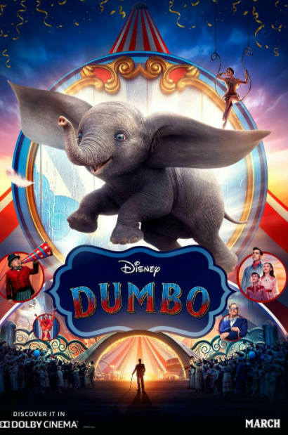 DUMBO (LIVE ACTION) DISNEY HD GOOGLE PLAY DIGITAL COPY MOVIE CODE (DIRECT INTO GOOGLE PLAY) USA CANADA