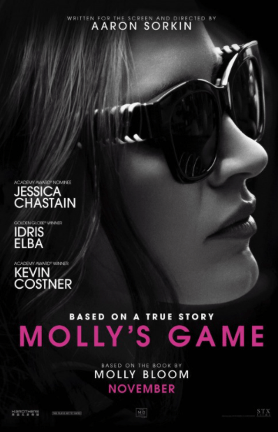 MOLLY'S GAME HD iTunes DIGITAL COPY MOVIE CODE (DIRECT IN TO ITUNES) USA
