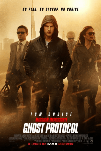 MISSION IMPOSSIBLE 4 GHOST PROTOCOL HDX VUDU DIGITAL COPY MOVIE CODE (READ DESCRIPTION FOR REDEMPTION SITE) USA