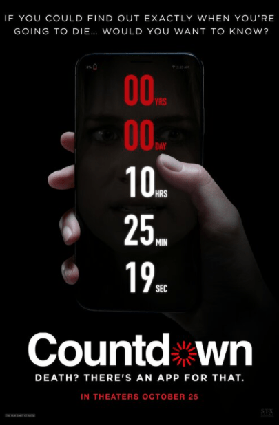 COUNTDOWN 4K UHD iTunes DIGITAL COPY MOVIE CODE (DIRECT IN TO ITUNES) USA