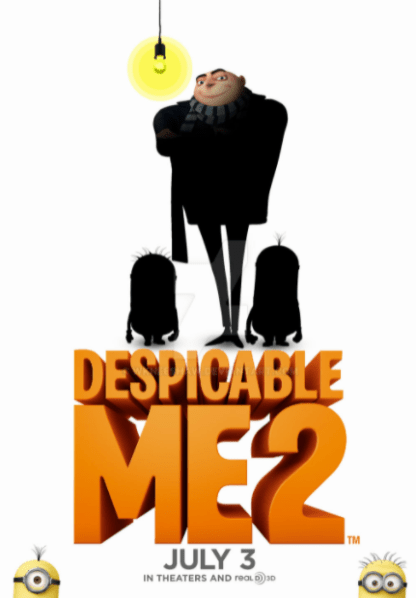 DESPICABLE ME 2 HD iTunes DIGITAL COPY MOVIE CODE ONLY (DIRECT IN TO ITUNES) USA CANADA