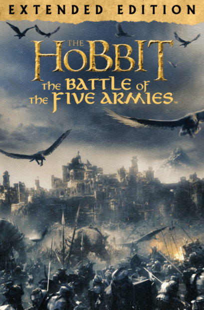 HOBBIT 3 (THE) BATTLE OF THE FIVE ARMIES EXTENDED EDITION HD GOOGLE PLAY DIGITAL COPY MOVIE CODE (DIRECT INTO GOOGLE PLAY) CANADA