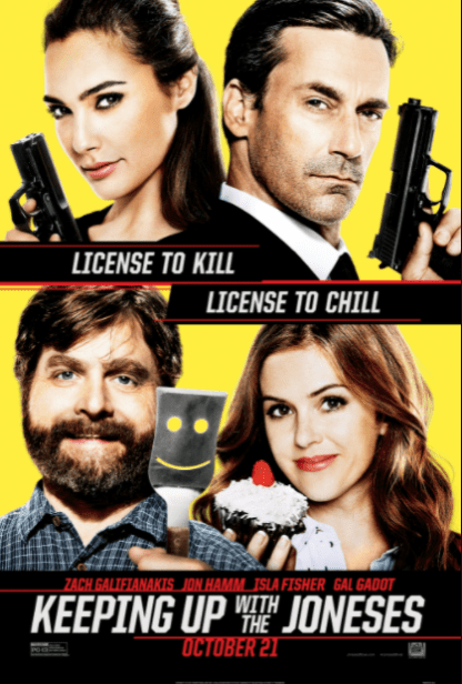 KEEPING UP WITH THE JONESES HDX VUDU, HDX MOVIES ANYWHERE, 4K UHD iTunes, HD GOOGLE PLAY (USA) / 4K UHD iTunes (CANADA) DIGITAL COPY MOVIE CODE (CANADIAN CLIENTS READ DESCRIPTION FOR REDEMPTION SITE/STEP INFO)