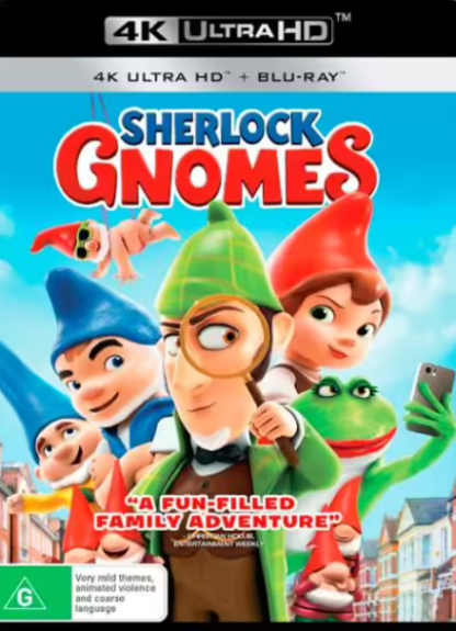 SHERLOCK GNOMES 4K UHD iTunes DIGITAL COPY MOVIE CODE ONLY (DIRECT IN TO ITUNES) USA CANADA