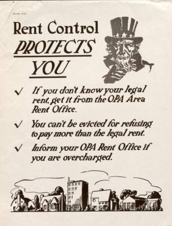 Rent Control Protects You - WWII Propaganda Poster Collection ...