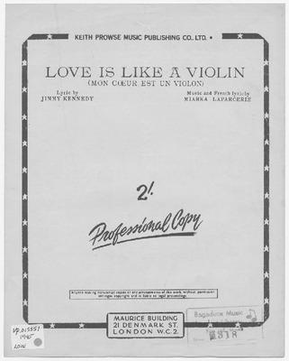 Mon Coeur Est Un Violon : coeur, violon, Violin:, Coeur, Violon, Miarka, Laparcerie, Jimmy, Kennedy
