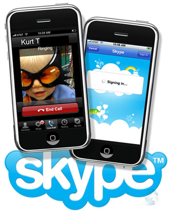 Skype Video Calling App on iPhone