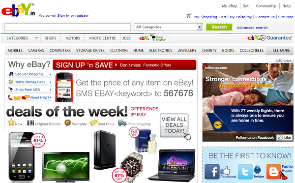 Ebay Shopping Online in India