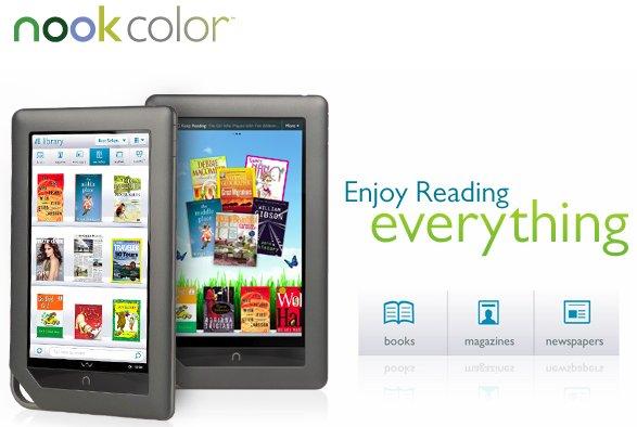 Nook Color Ebook Reader Gadget 2011