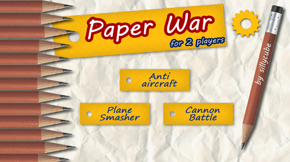 Paperwar For 2 Players - Android Game Review