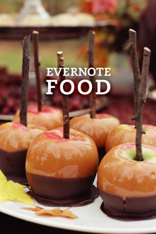 Evernote Food App on IPhone