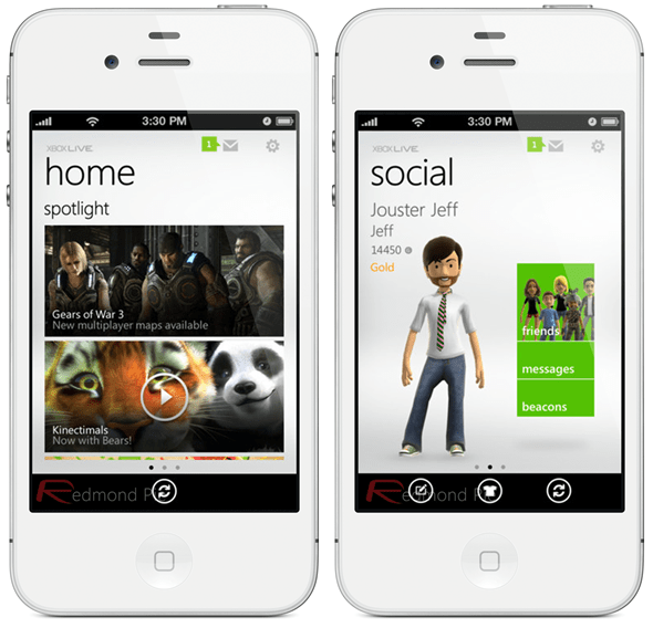 Xbox LIVE App For iPhone