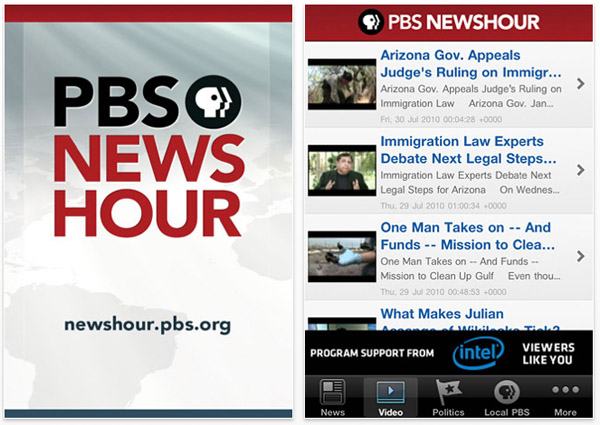 PBS App for iOS Devices