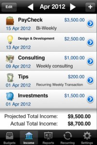 Budget Envelopes iPhone App Settings