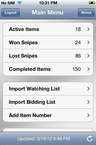Myibidder Auction Bid Sniper For Ebay Iphone Ipad App Review Digital Conqueror