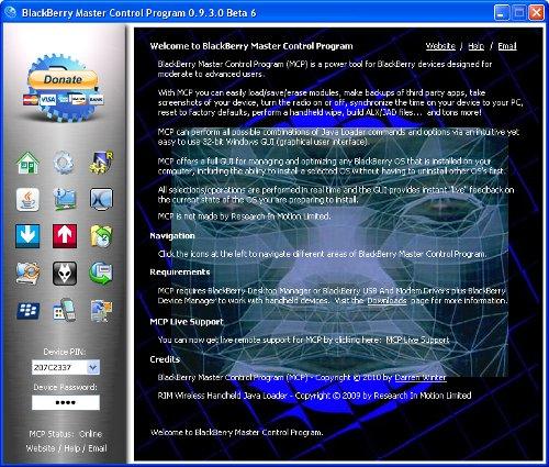 Download Blackberry Master Control Program