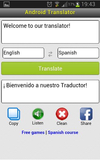 Translator Android App 1
