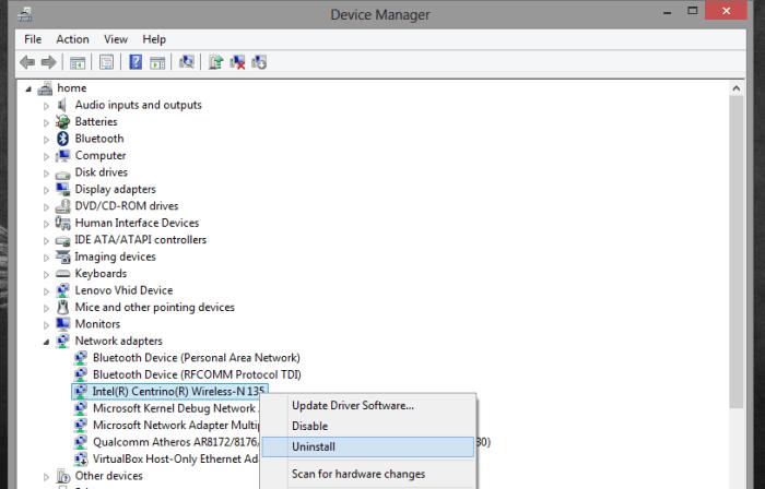 laptop not detecting wifi