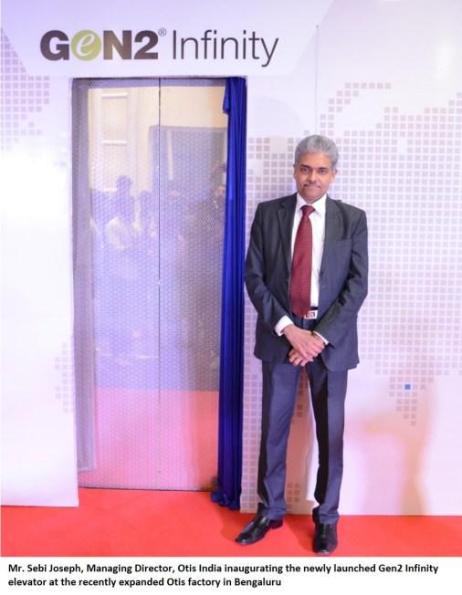 Mr. Sebi Joseph, Managing Director Otis India