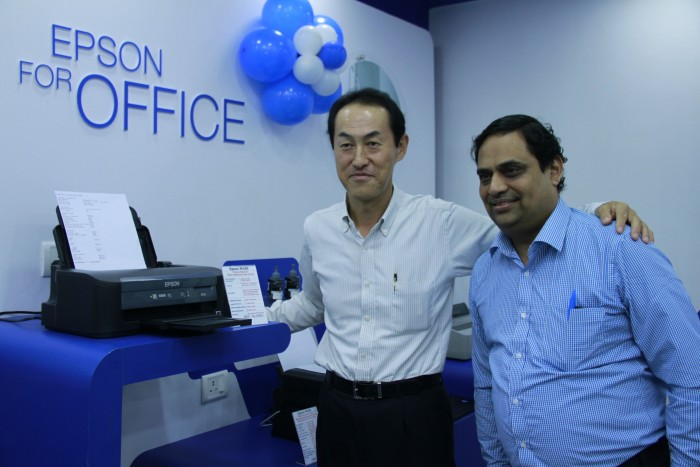 Toshiyuki Kasai, President and Managing Director, Epson India and Ram Prasad RV, Director, Sales (West & South), Epson India