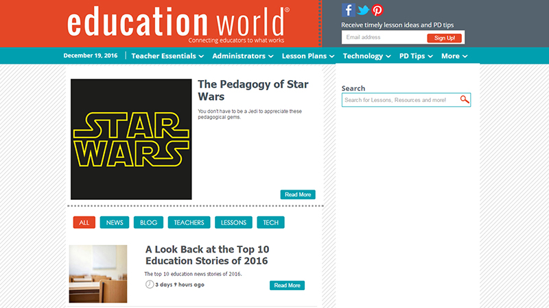 Education World -Tech For Teachers